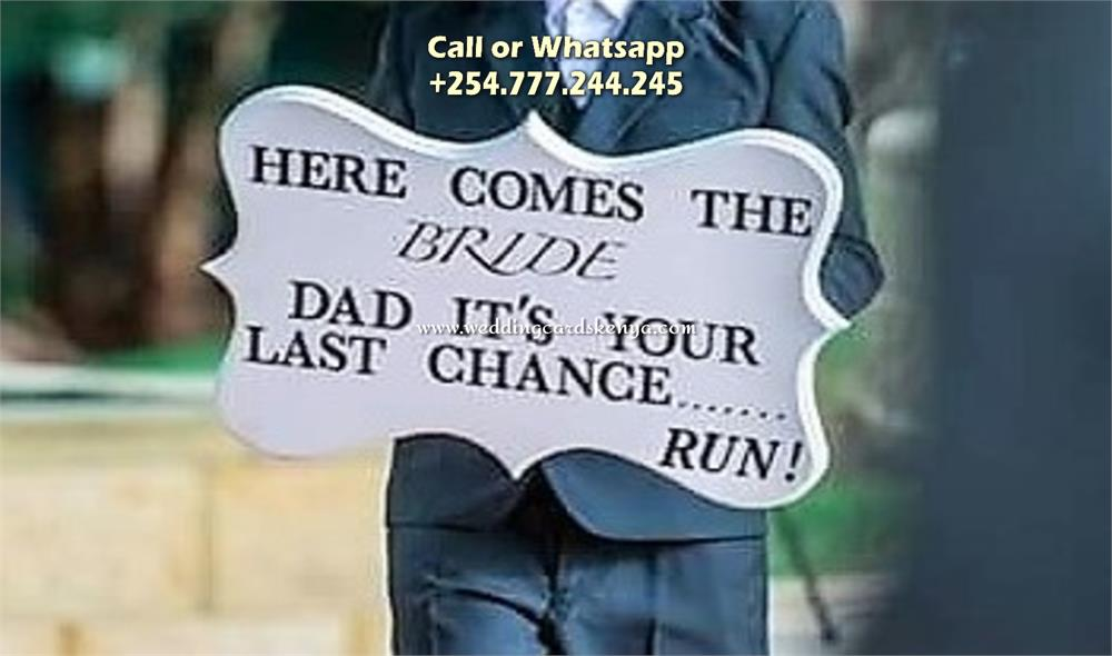 Here Comes The Bride Signs