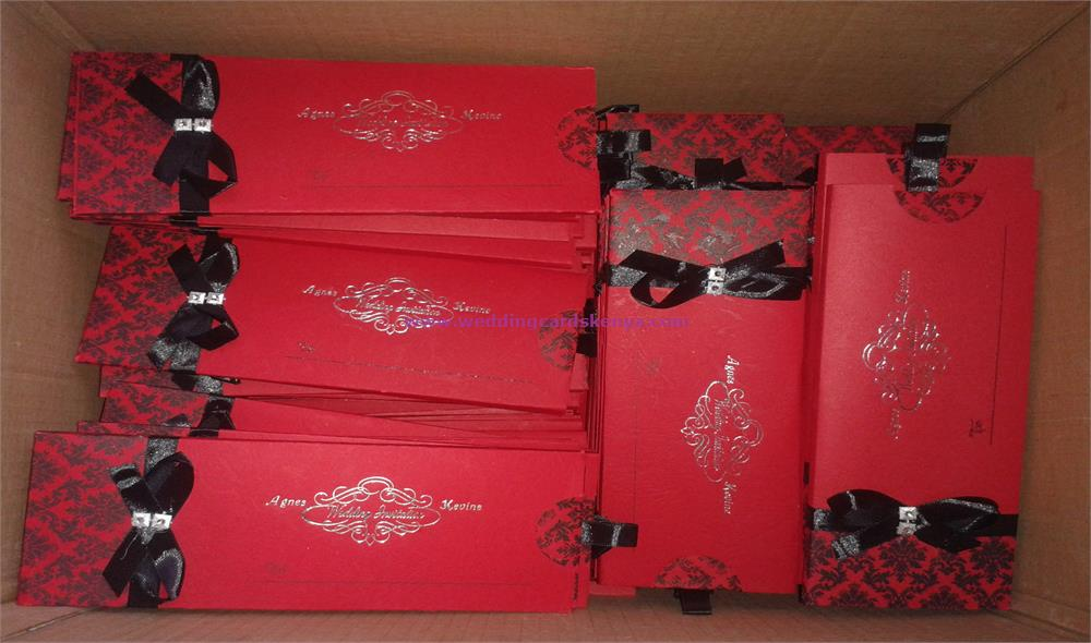 Red Black Wedding Cards