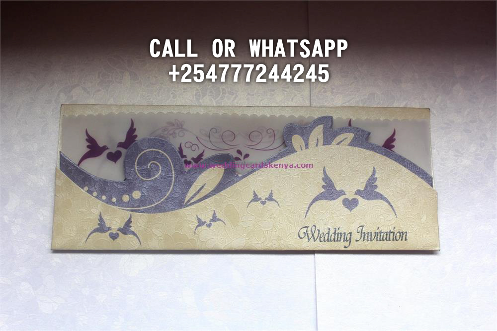2 ENVELOPE PURPLE CREAM