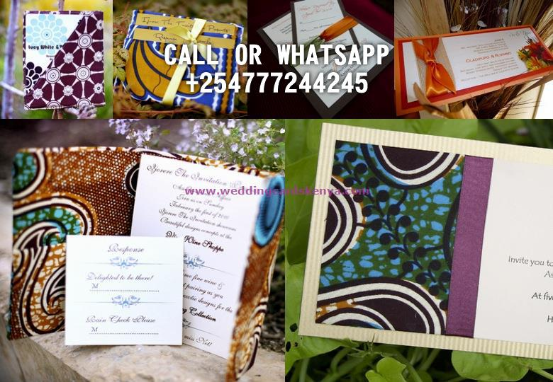 AFRICAN THEME WEDDING CARDS