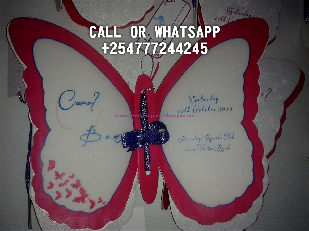 BUTTERFLY CARD HOTPINK