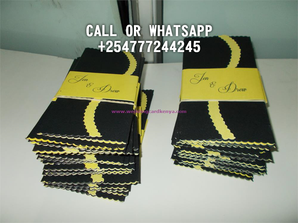 DOUBLE A4 FOLD BLACK YELLOW