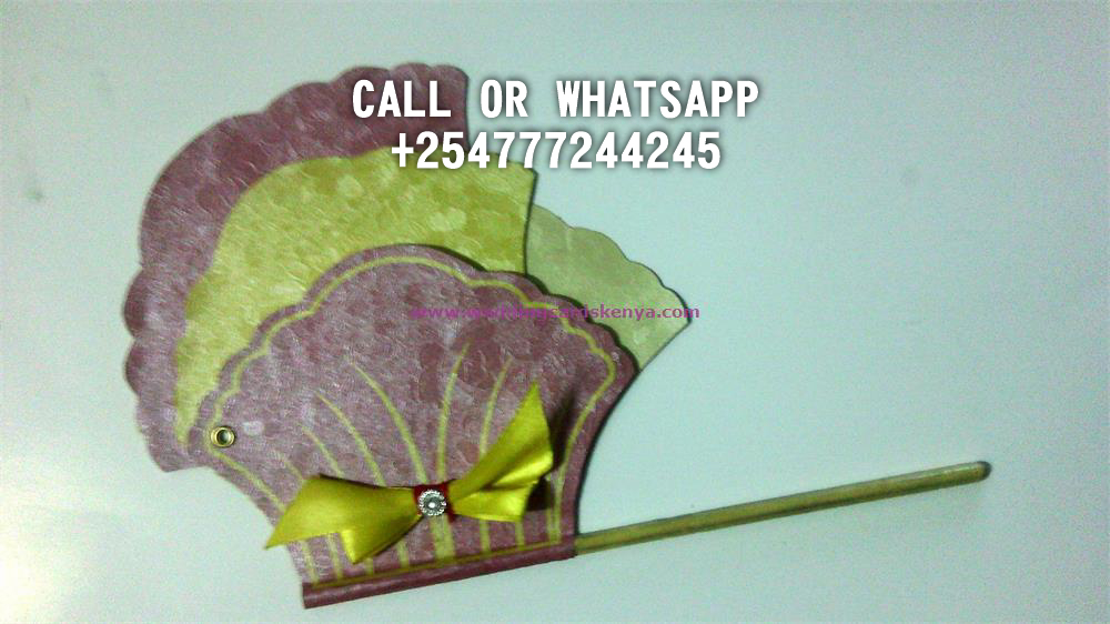 HANDLE FAN CARD YELLOW