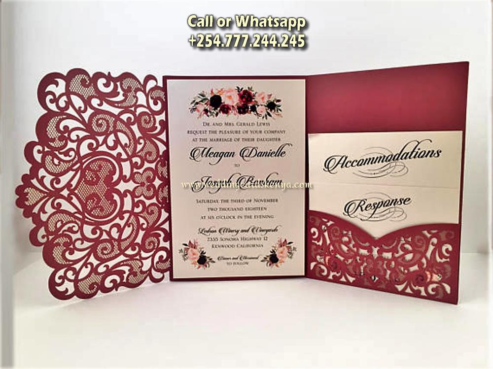 Invitation Wedding Card: Kenya Wedding Photographer, Videographer, Wedding Cards